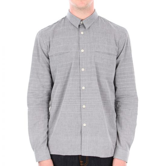 Folk Straight Hem Home Shirt Fade Out Dot in Charcoal