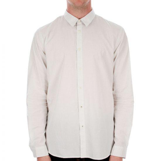Folk Pyjama Shirt in Charcoal Mini Dot On White