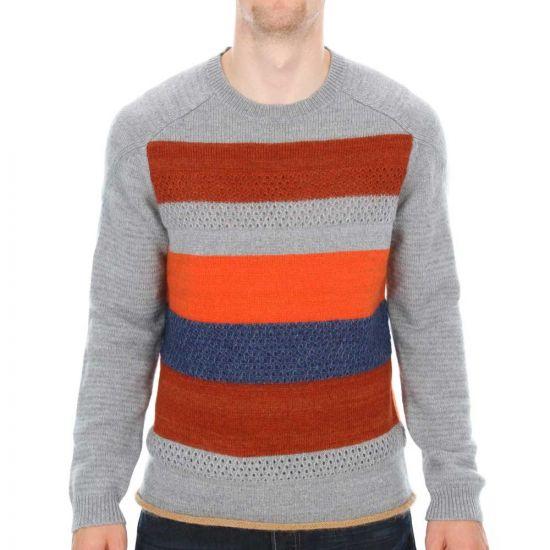 folk grey jumper