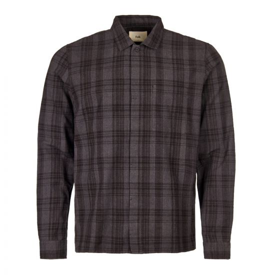 Folk Patch Shirt | FP5109S CHARCOAL/CHECK Charcoal Multi Check