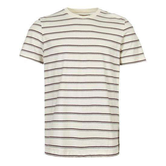 Folk T-Shirt | FM5151J PLUM ecru