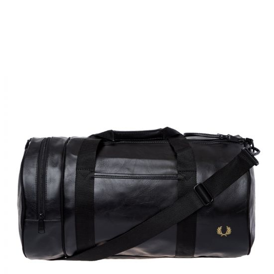 Fred Perry Barrel Bag | L7223 102 Black / Gold