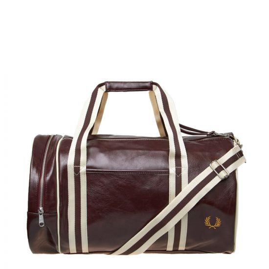 Fred Perry Barrel Bag | L3330 H45 Port / Ecru