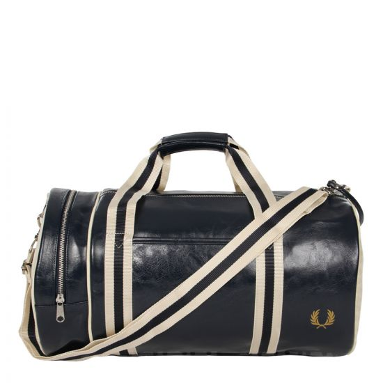 Fred Perry Classic Barrel Bag | Navy and Ecru L3330-635