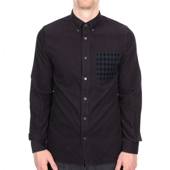Fred Perry Long Sleeve Shirt in Navy Cord