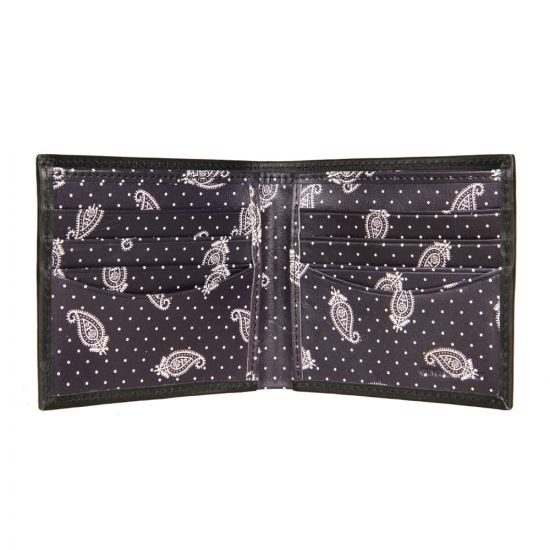 Fred Perry Drakes Detail Billfold Wallet - Black