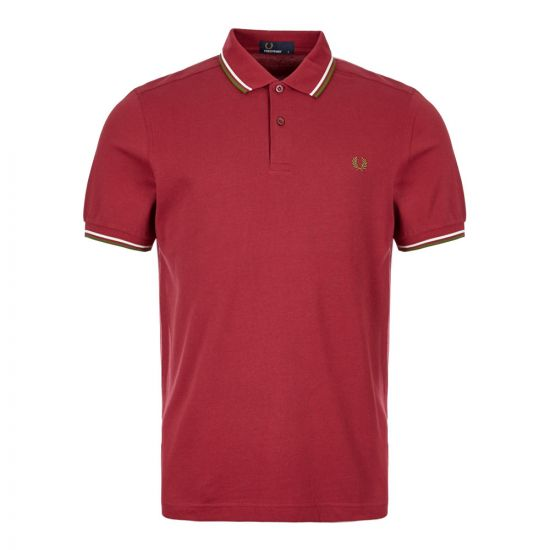 Fred Perry Polo Shirt M3600 106 in Burgundy