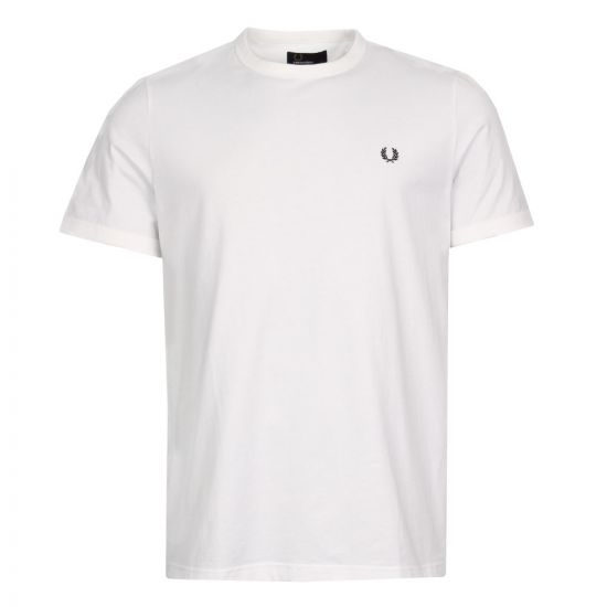 Fred Perry Ringer T-Shirt M3519 100 White