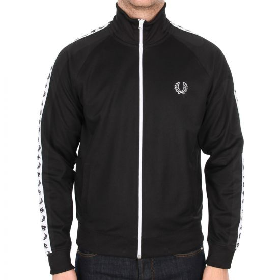 Fred Perry Space Invaders Track Top in Black