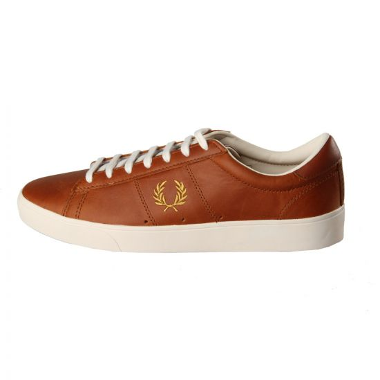 Fred Perry Spencer Leather Trainers in Dark Tan