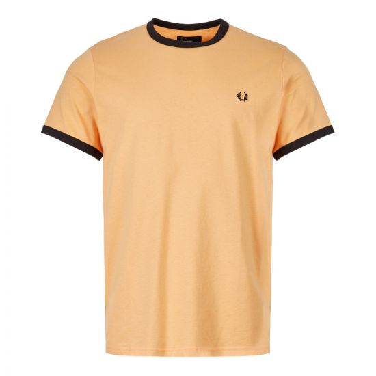 Fred Perry T-Shirt Ringer M3519 D88 In Apricot Nectar