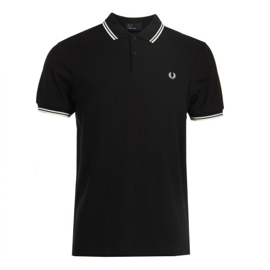 Fred Perry Twin Tip Polo Shirt M3600 524 Black