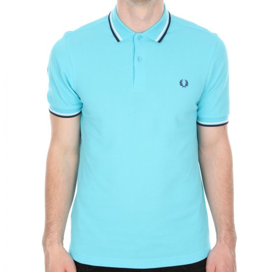 Fred Perry Polo Shirt In Capri Blue