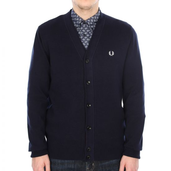 Fred Perry Navy Sports Cardigan