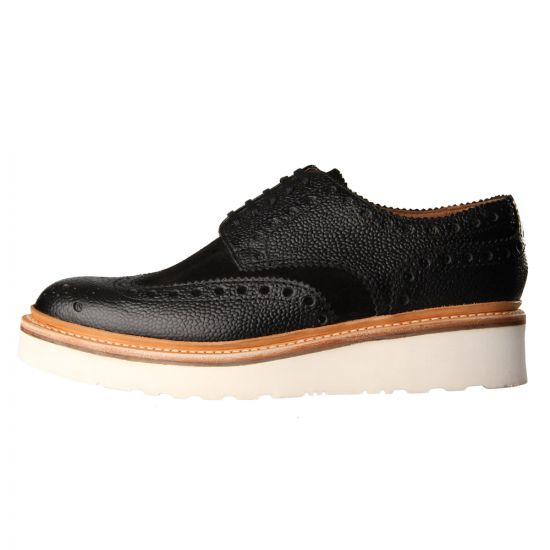 Archie Shoes – Black w/ White Wedge