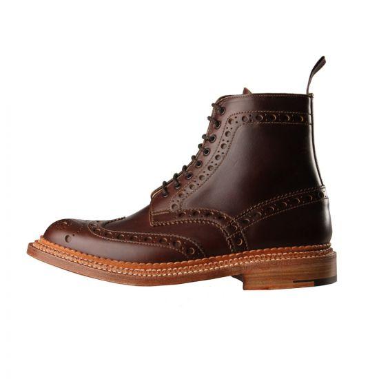 Triple Welt Fred Boots - Dark Brown
