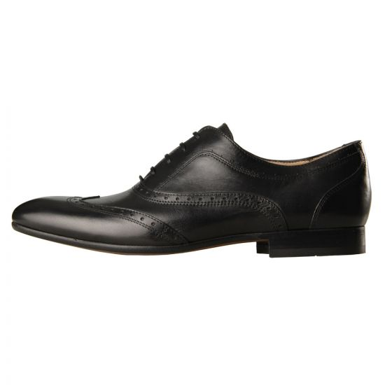 H By Hudson Shoes Francis Black Leather