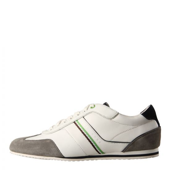Hugo Boss Green Victoire Fiction Trainers in White