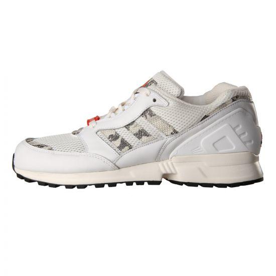 Adidas Equipment Running Cushion Trainers in White / Orange