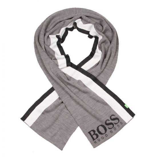 Hugo Boss Green Scarf in Grey