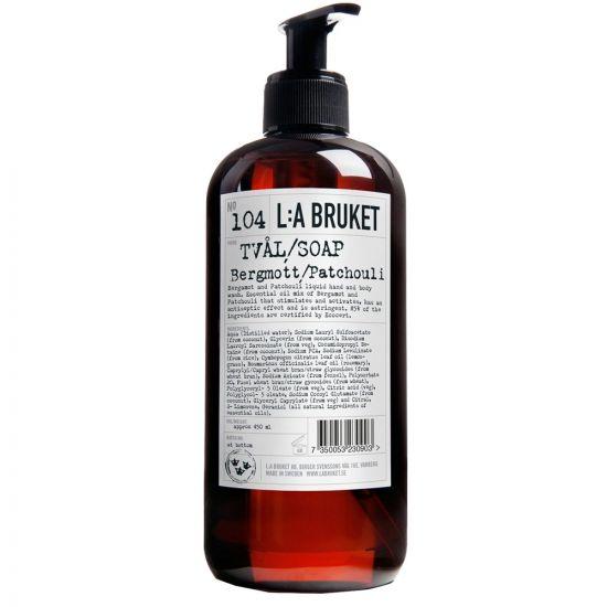 L:A Bruket Body Wash in No104 Patchouli 10161