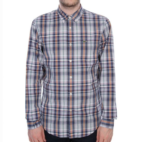 Lacoste Check Shirt - Navy