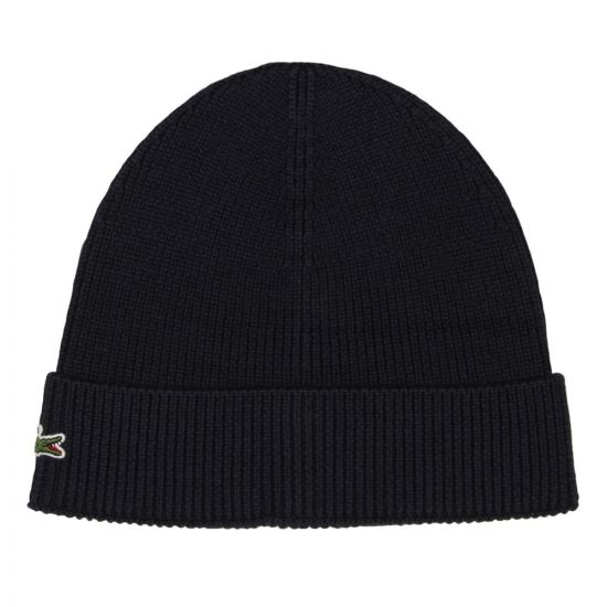 Lacoste Beanie Hat RB3502 00 166 Navy