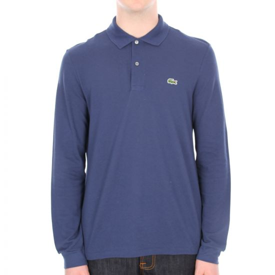 Lacoste Long Sleeved Polo Shirt in Navy