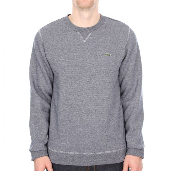 Lacoste Stripe Sweater in Navy