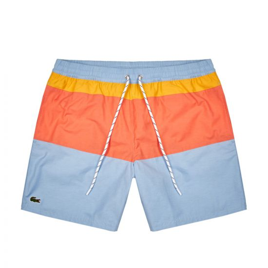 Lacoste Swim Shorts | MH553000 876 Blue / Yellow / Orange