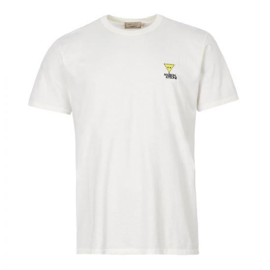 Maison Kitsune T-Shirt Triangle Fox | DM00129K J0008 WH White
