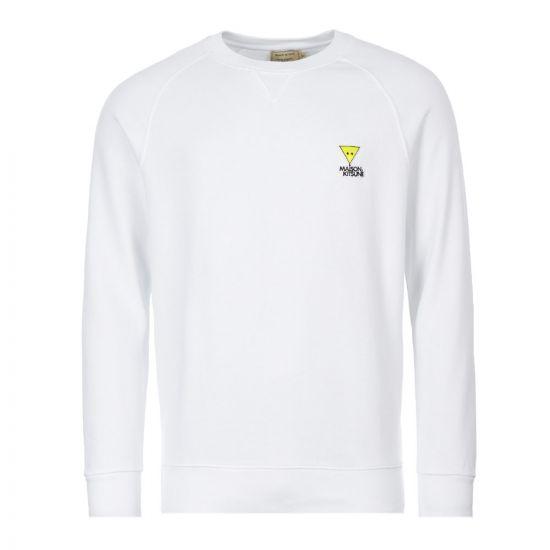 Maison Kitsune Sweatshirt Triangle Fox   DM00317K M0001 WH White