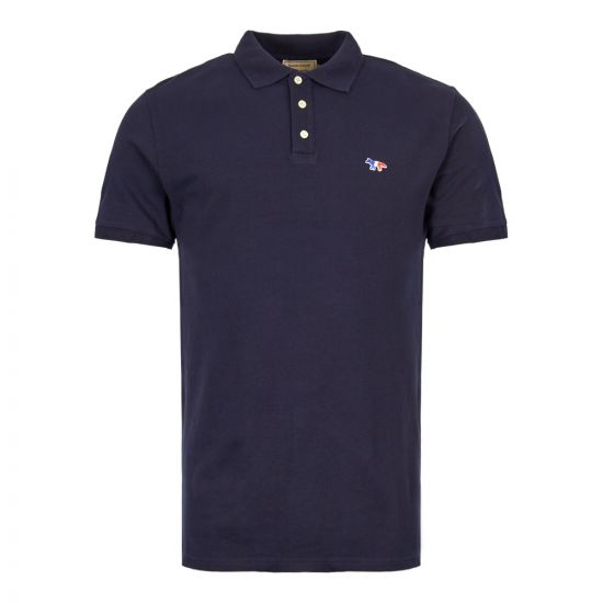 Maison Kitsune Polo Shirt AM00200K J7002 NA Navy