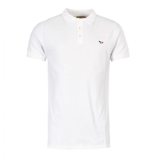 Maison Kitsune Polo Shirt AM00200K J7002 WH White