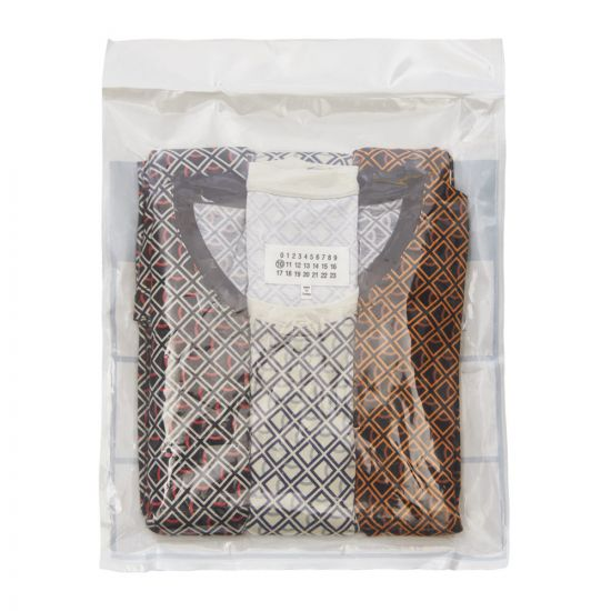 Maison Margiela T-Shirt 3 Pack Diamond S30GC0652 S23414 001S Black / Ivory / Caramel