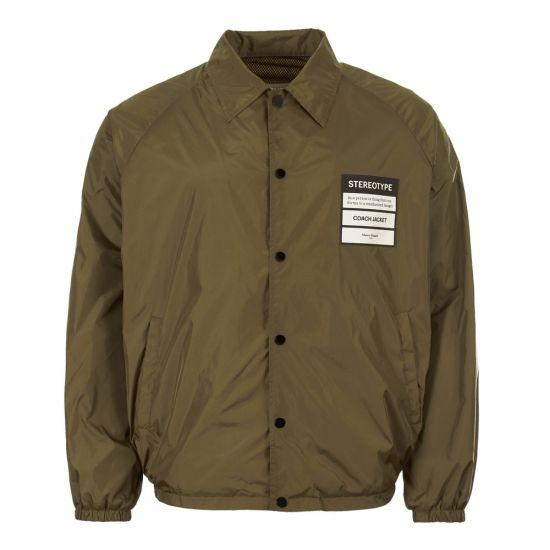 maison margiela coach jacket S50AM0358 S49203 727 olive