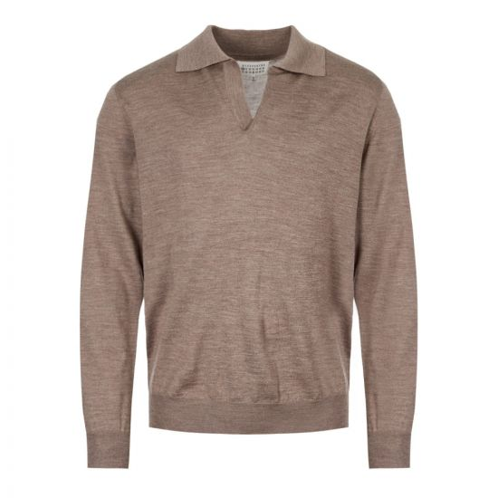Maison Margiela Long Sleeve Polo | S50GL0003 S16789 816M Taupe