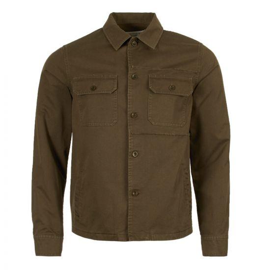maison margiela pocket over shirt S50DL0377 S48601 727 green