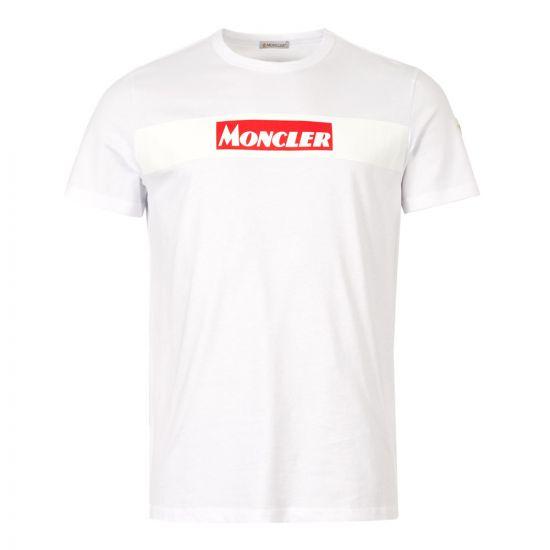 moncler  t-shirt maglia logo 80484 50 8390T 001 white