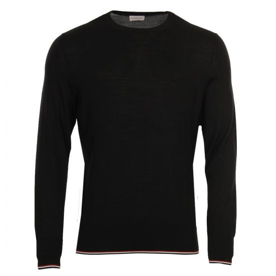 Moncler Crew Neck Jumper 90280 00 979BB 999 in Black