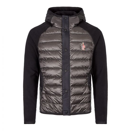 Moncler Hooded Cardigan 84008 00 80093 997 Grey / Navy / Black