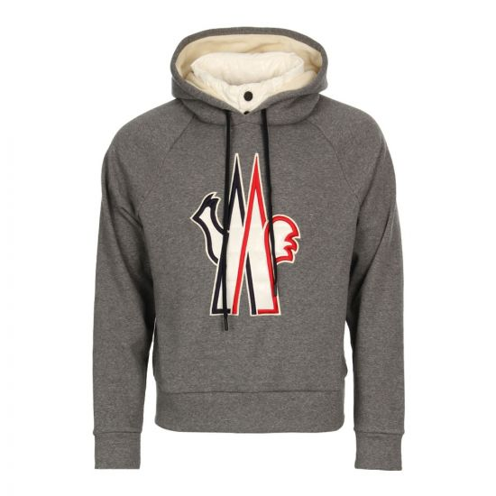 Moncler Hooded Sweat 80004-50-8099F-910 In Grey