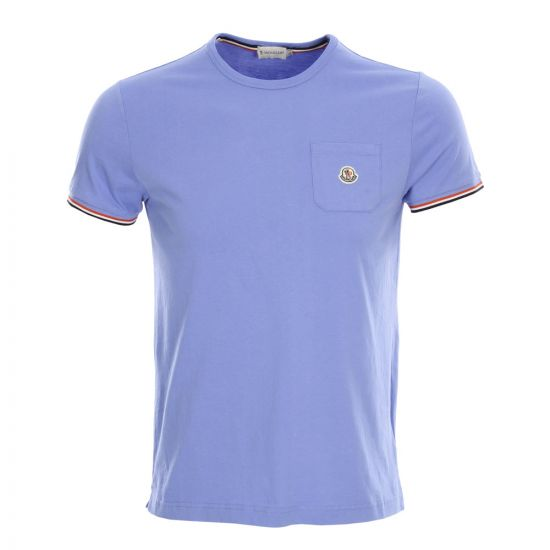 Moncler Pocket T-Shirt in Light Blue