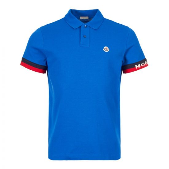 Moncler Polo Shirt 83213 00 84556 706 in Blue