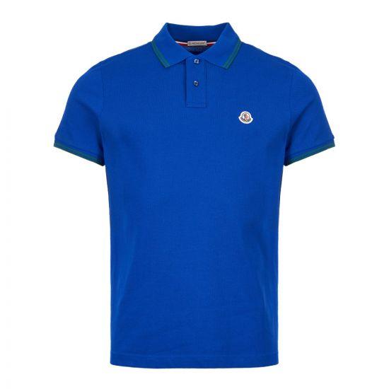 Moncler Polo Shirt 83043 00 84556 738 Royal Blue