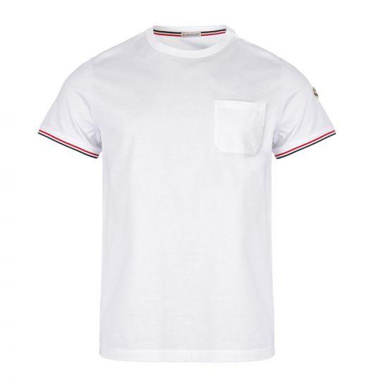 moncler t-shirt 80198 00 8390Y 001 white