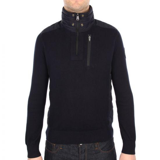 Napapijri Disland Knitted Jumper in Navy