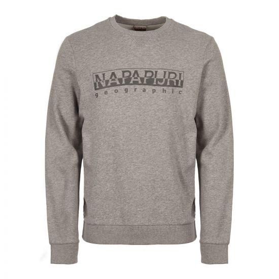 Napapijri Sweatshirt NOY1J8 160 in Grey