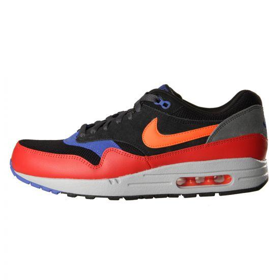Nike Air Max 1 Essential Trainers - Black, Hyper Crimson, Red Clay