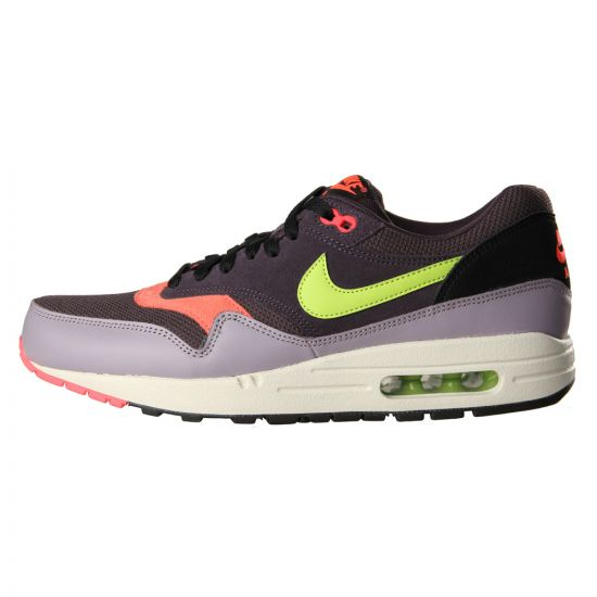 Nike Air Max 1 Essential Trainers Cave Purple Force Green